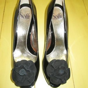 NEW $100 Sofft Size 8 Black Patent Leather Pumps